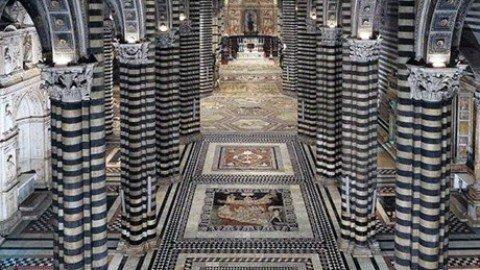 Il pavimento marmoreo del Duomo di Siena