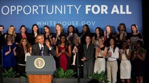 Equal pay, Obama annuncia misure contro la discriminazione salariale delle donne