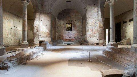 Le restituite pitture di Santa Maria Antiqua, esempio unico di arte bizantina a Roma