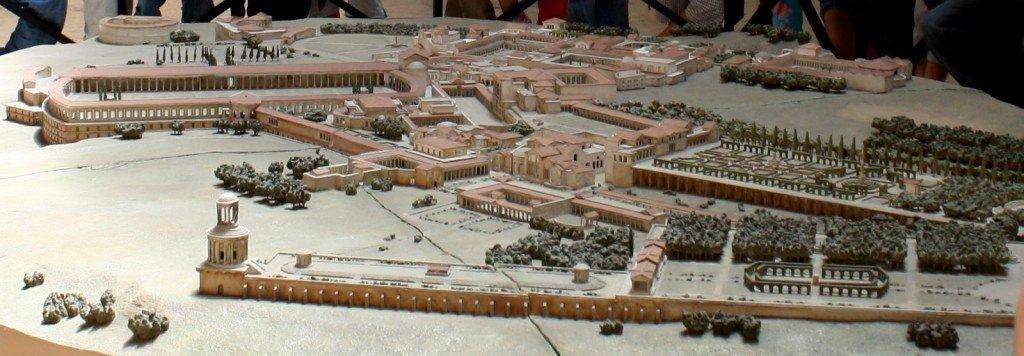 Plastico di come doveva presentarsi Villa Adriana, conservato nel Museo della Civiltà Romana a Roma