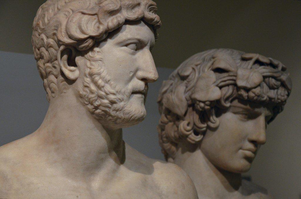 Busti ritraenti l'imperatore Adriano e il suo amante Antinoo