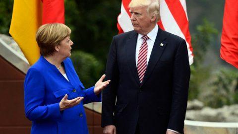 """Angela Merkel: nuovo progetto Europeo per contrastare """"gli inaffidabili"""" Trump e May"""
