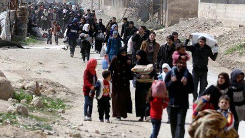 Siria, diecimila civili in fuga dalla Ghouta