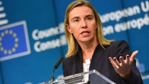 """Siria, Mogherini: """"Conflitto deve essere risolto sotto l'egida dell'Onu"""""""