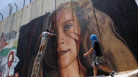 Rilasciati street artist italiani arrestati a Betlemme