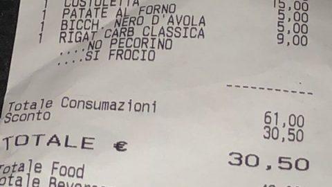 Roma, in ristorante scritte omofobe a coppia gay su scontrino: licenziato il cameriere