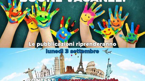 PAUSA ESTIVA: 15agosto-2settembre // CONTEST: #vacanzesuvirgolette
