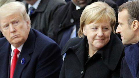 """Macron sfida Trump a Parigi: """"Il nazionalismo è un demone"""""""