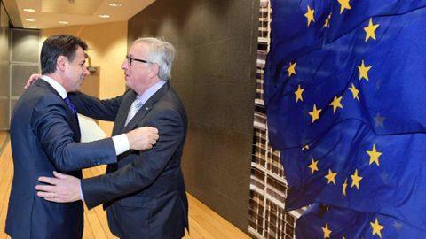 """Conte a Bruxelles: """"Il deficit scende dal 2,4% al 2,04% ma reddito e quota 100 restano"""""""