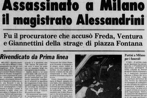 29 gennaio 1979: l'omicidio di Emilio Alessandrini