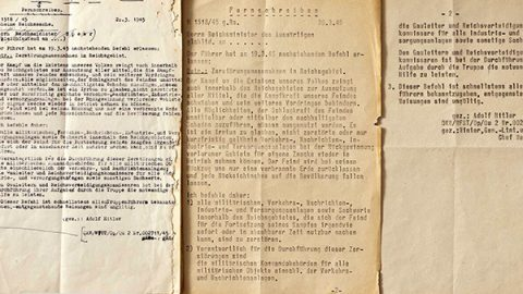 19 marzo 1945: il decreto Nerone di Hitler