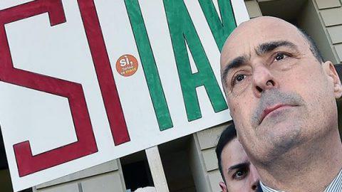 """A Torino la prima tappa di Zingaretti: """"Criminale perdere i milioni della Tav"""""""