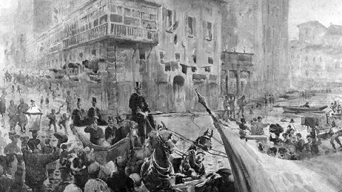 2 luglio 1871: Vittorio Emanuele II, re d'Italia, entra a Roma