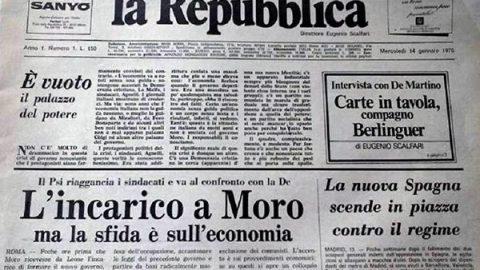 """14 gennaio 1976: nasce il quotidiano """"la Repubblica"""""""