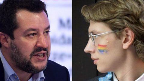 """""""Cyberbullo e codardo"""": bufera su Salvini che mette alla gogna la 'sardina' dislessica"""