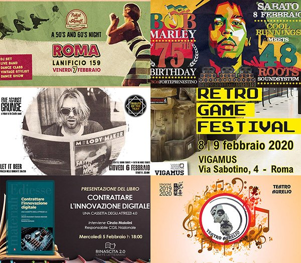 eventi febbraio roma