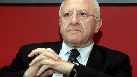 """Coronavirus, De Luca a Conte: """"Zero forniture, Sud al collasso: conteremo i morti"""""""