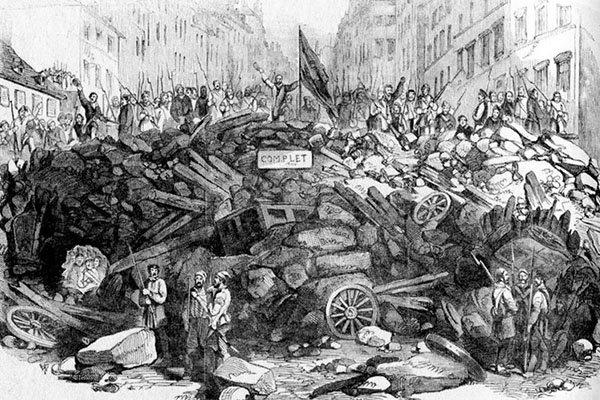illustrazione barricate parigi