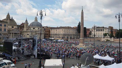 centrodestra piazza del popolo