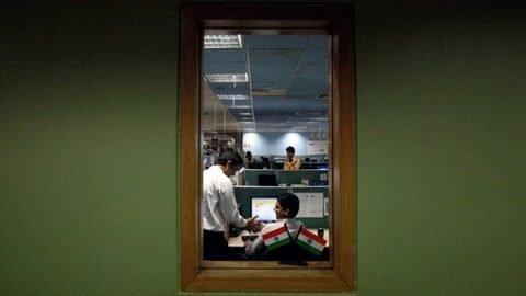 giovane lavoratore india