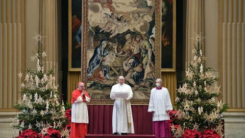 papa benedizione natale