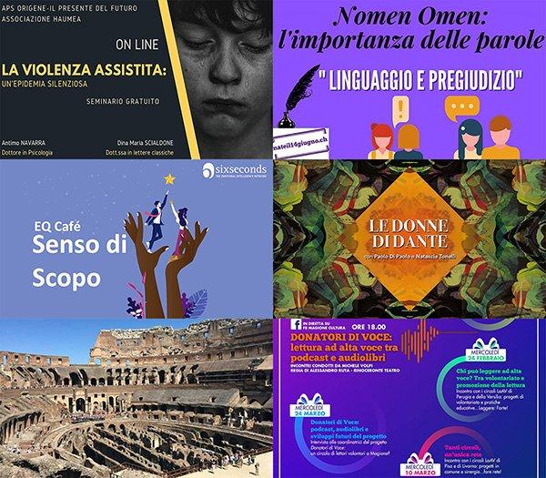 eventi online 22-28 marzo